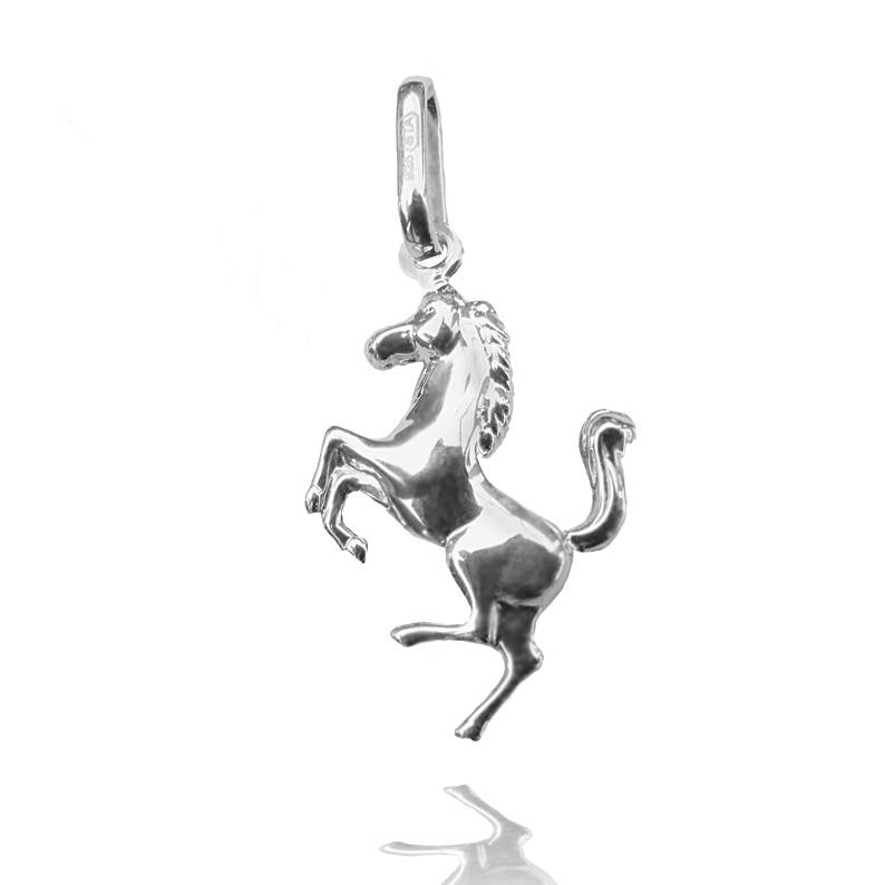 Stříbrný přívěsek kůň ve skoku