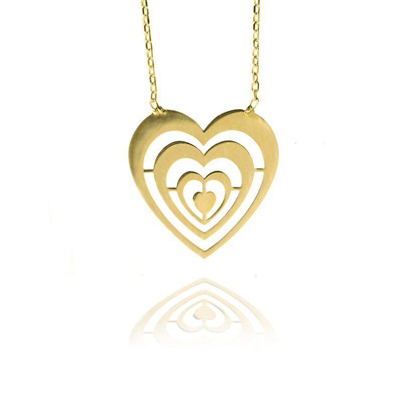 Zlatý náhrdelník - srdce