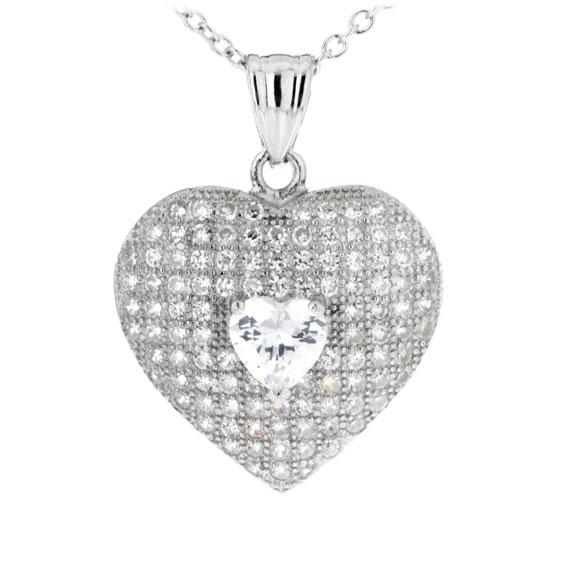 Luxusní stříbrný přívěsek - srdce