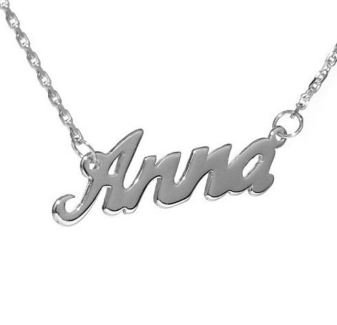 Stříbrný řetízek se jménem Anna
