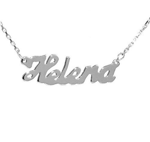 Stříbrný řetízek se jménem Helena