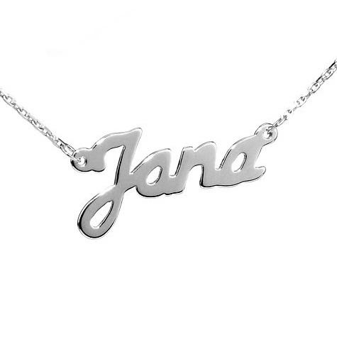 Stříbrný řetízek se jménem Jana
