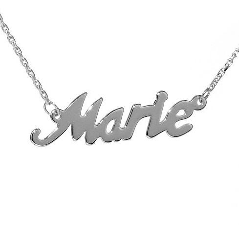 Stříbrný řetízek se jménem Marie