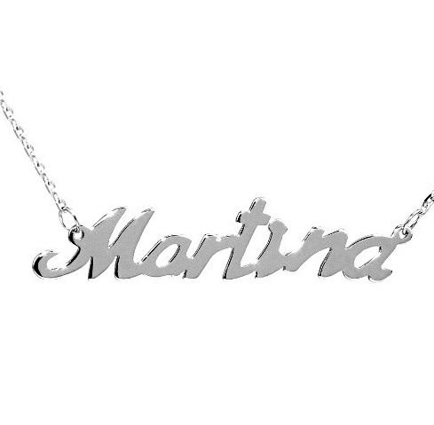 Stříbrný řetízek se jménem Martina