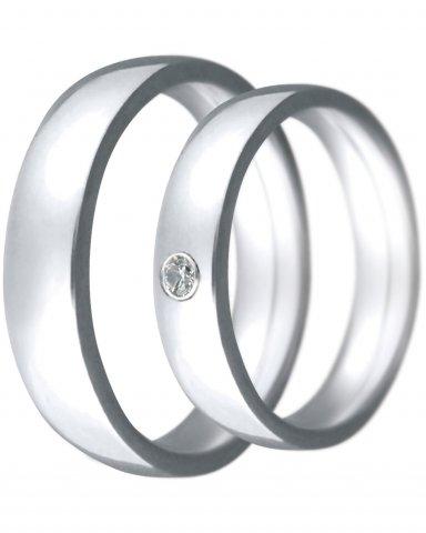 Hejral snubní prsten Claudia 2 bílé zlato