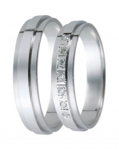Hejral snubní prsten D 19 bílé zlato
