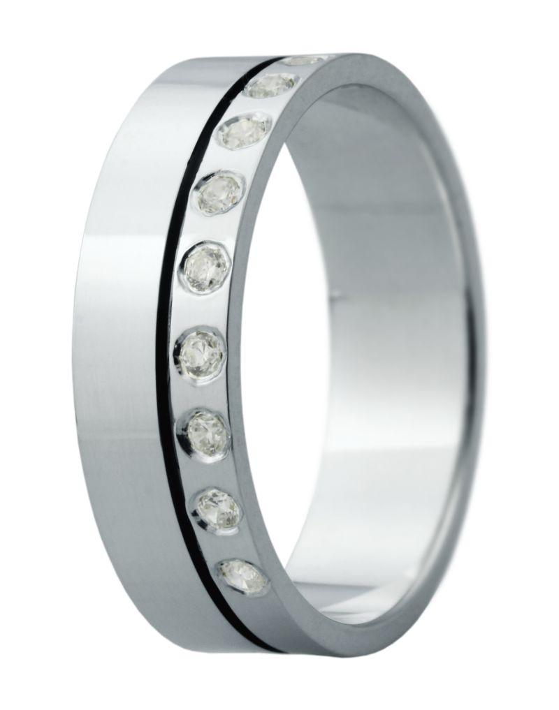 Hejral snubní prsten Eliška 6 bílé zlato
