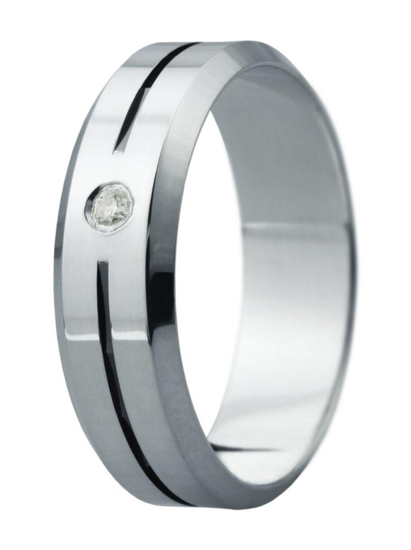 Hejral snubní prsten Eliška 7 bílé zlato