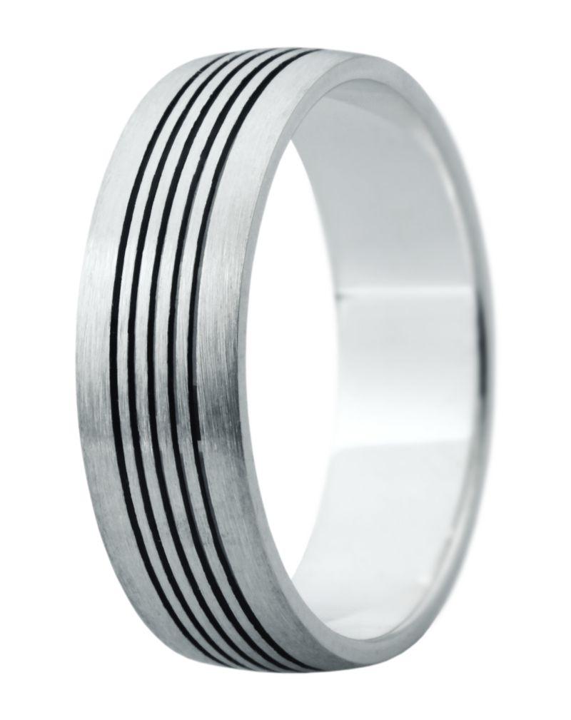 Hejral snubní prsten Eliška 10 bílé zlato