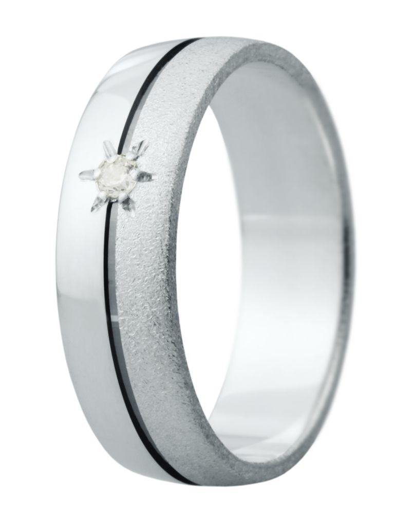 Hejral snubní prsten Eliška 11 bílé zlato