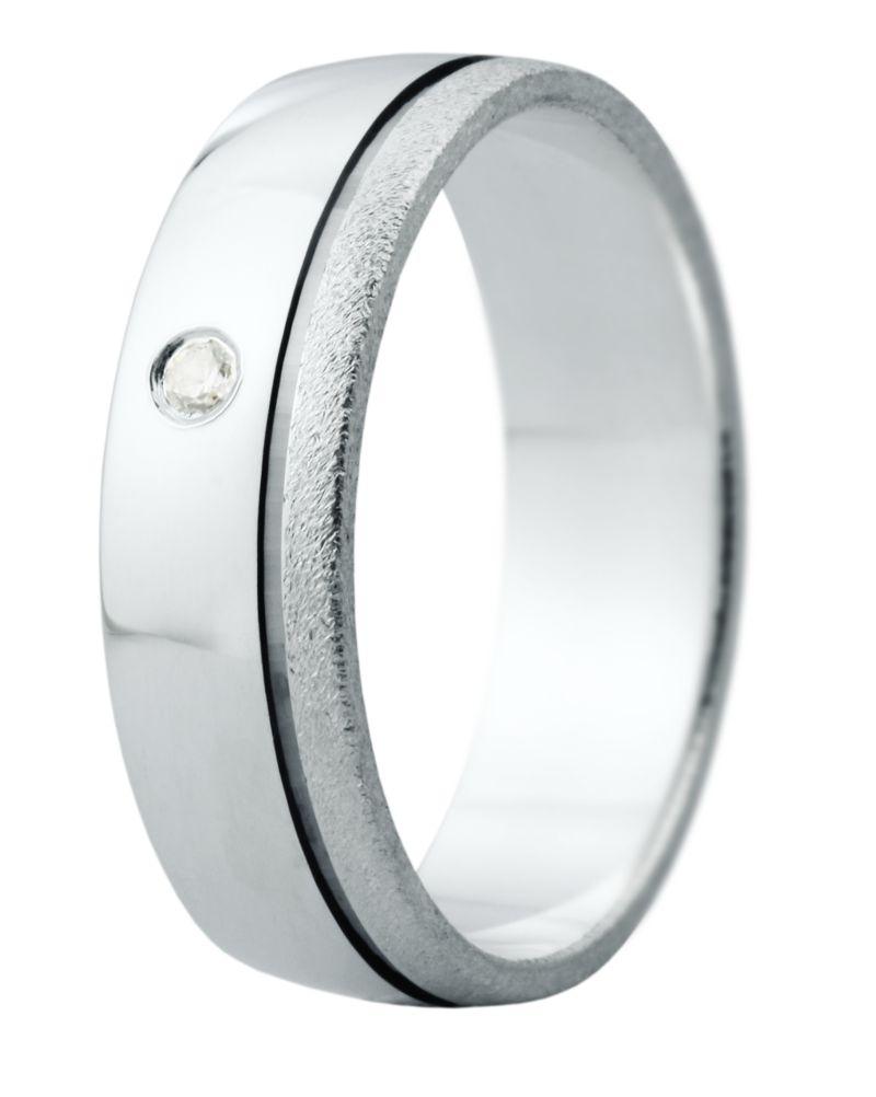 Hejral snubní prsten Eliška 12 bílé zlato