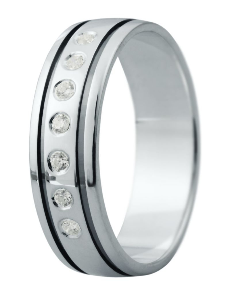 Hejral snubní prsten Eliška 13 bílé zlato