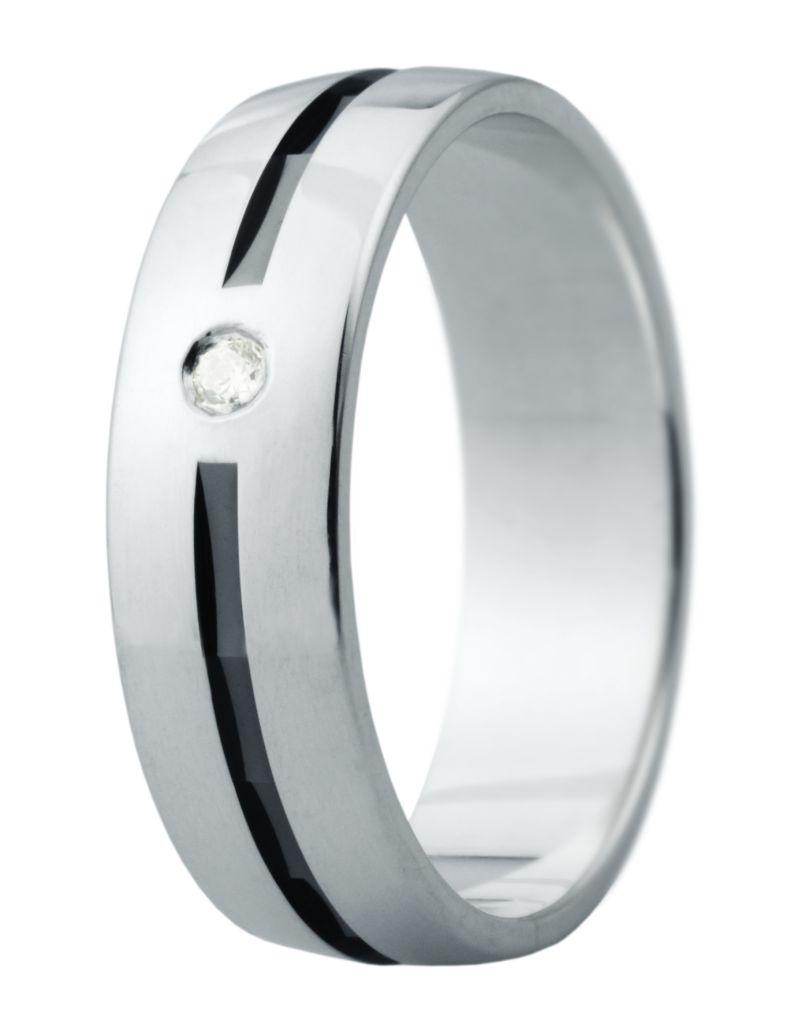 Hejral snubní prsten Eliška 14 bílé zlato