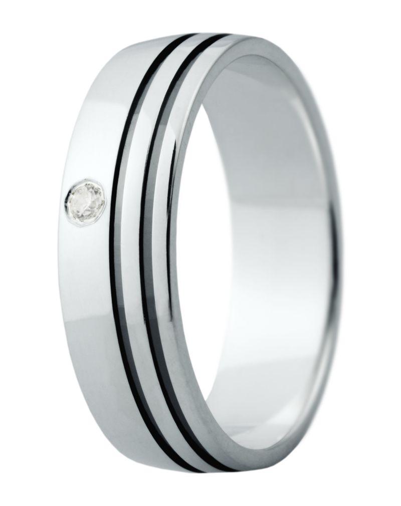 Hejral snubní prsten Eliška 15 bílé zlato