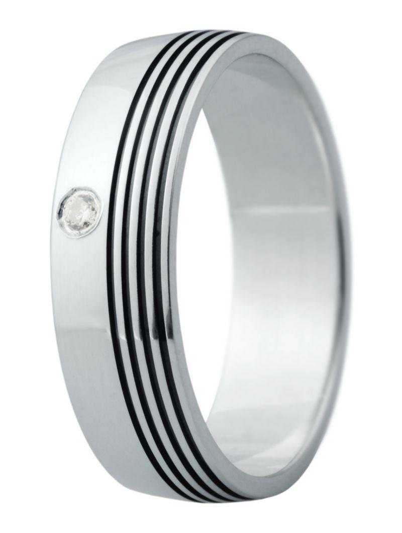 Hejral snubní prsten Eliška 16 bílé zlato