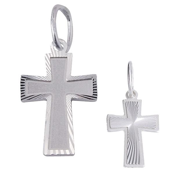 Stříbrný křížek broušený