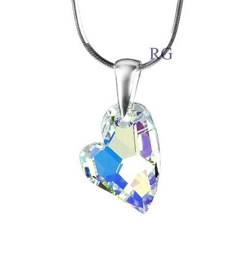 Přívěsek Swarovski CRYSTALLIZED™ Devoted 2 U Heart Crystal AB LSW125P