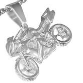 Ocelový přívěsek - silniční motorka