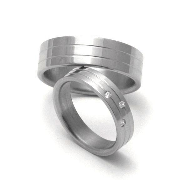 Titanové snubní prsteny 05