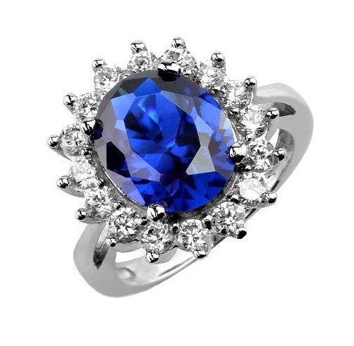 Stříbrný prsten princezny Kate TXR903091