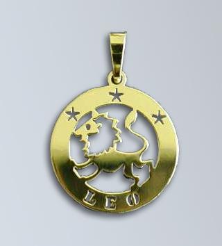 Zlatý přívěsek Lev - latinský nápis